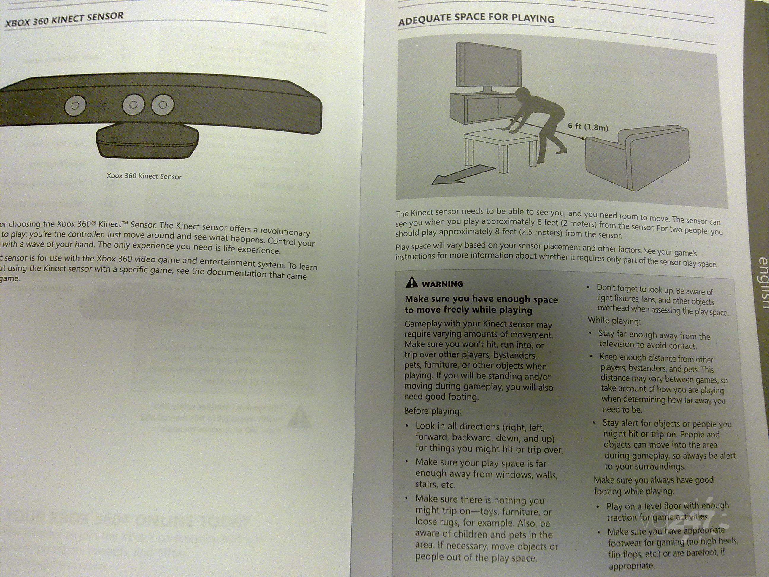 entire kinect manual photographed play distances power details rh vg247 com