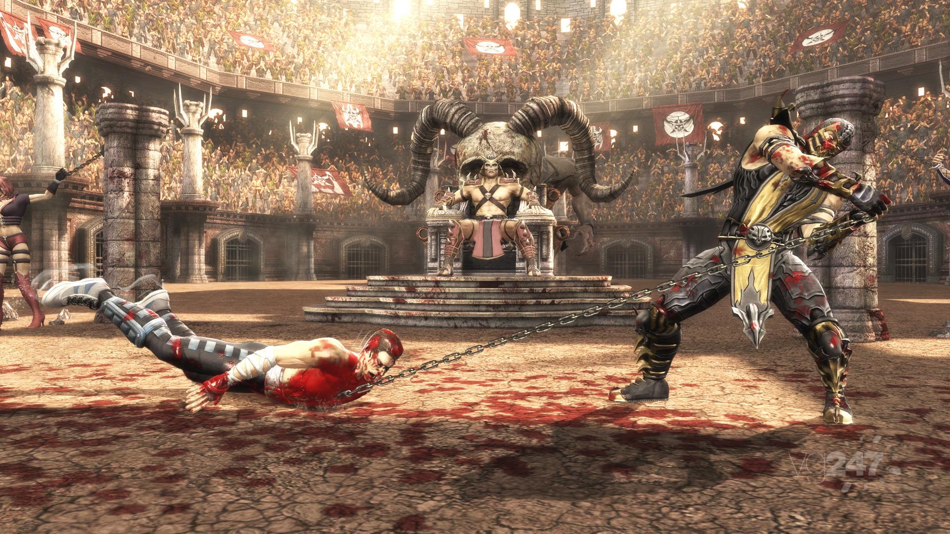 Mortal Kombat screens show Johnny Cage vs Sub-Zero, Scorpion