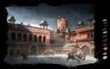Orchha: The courtyard of the Jahangir Mahal