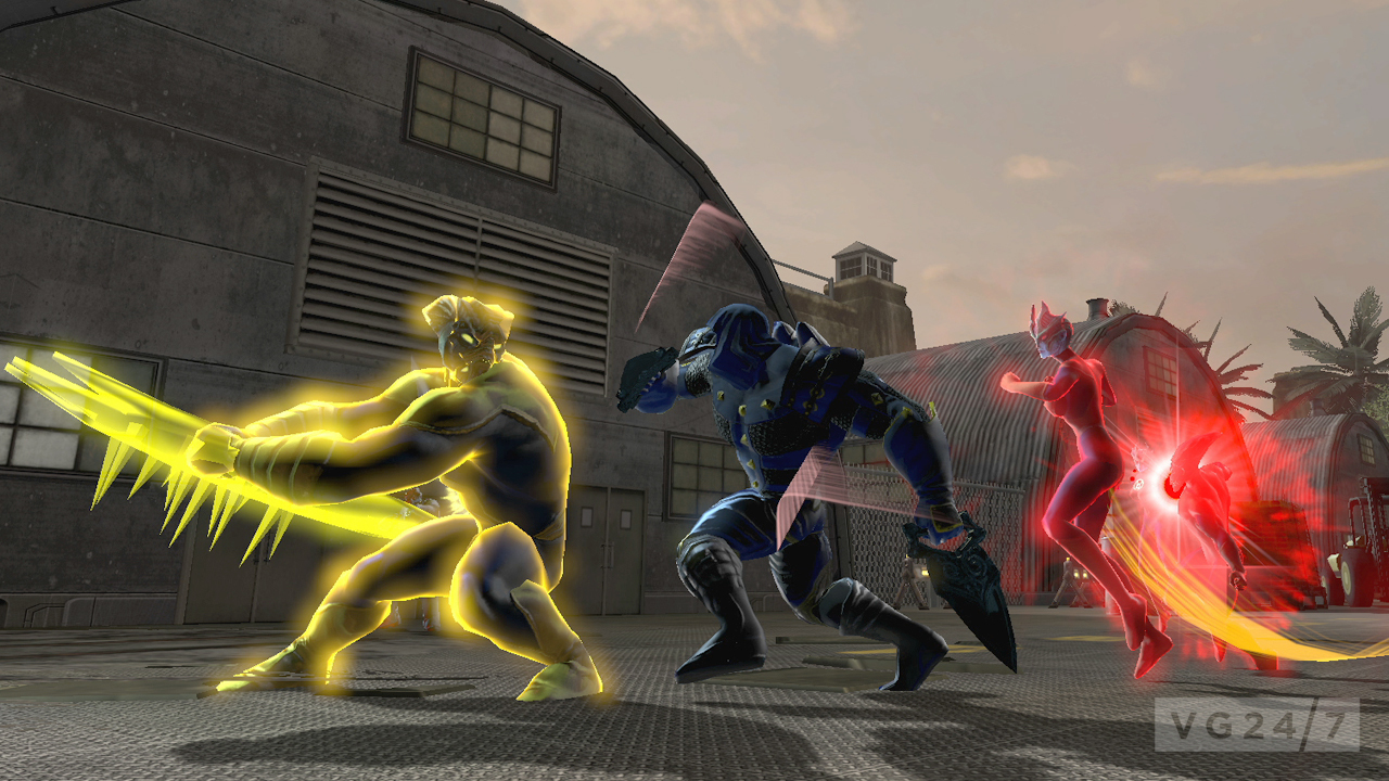 quick shots dc universe online screens get out of comic con vg247