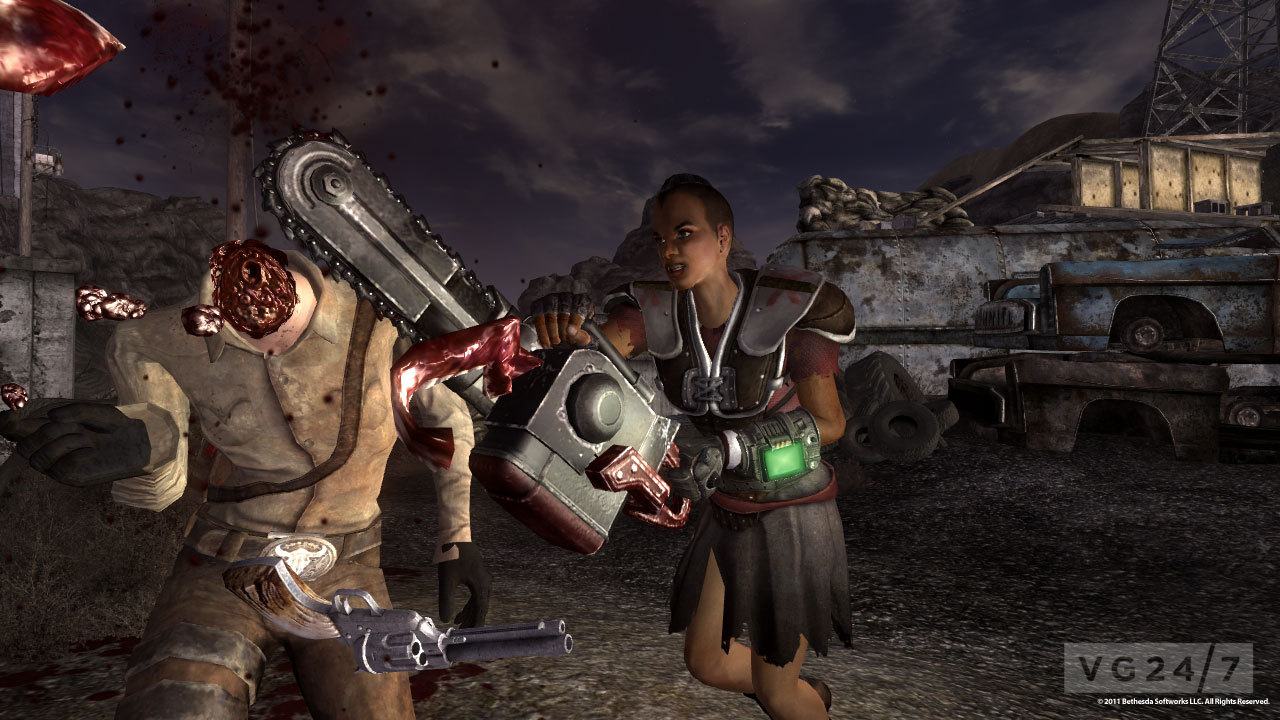 Fallout: New Vegas - Lonesome Road, Courier's Stash and Gun