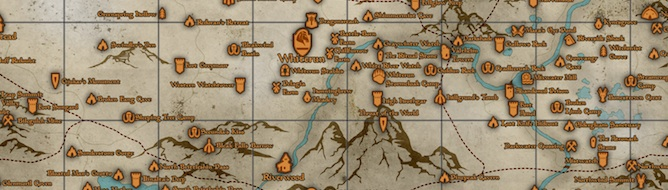 picture about Printable Skyrim Map called Skyrim goodies: Printable entire world map, eBooks - VG247