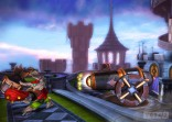 Skylanders Giansts - Tree Rex throwing missile at canon