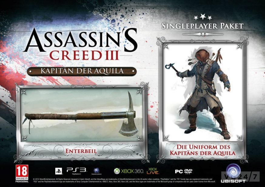 Gamestop Germany Amazon Lists Assassin S Creed Iii Pre Order