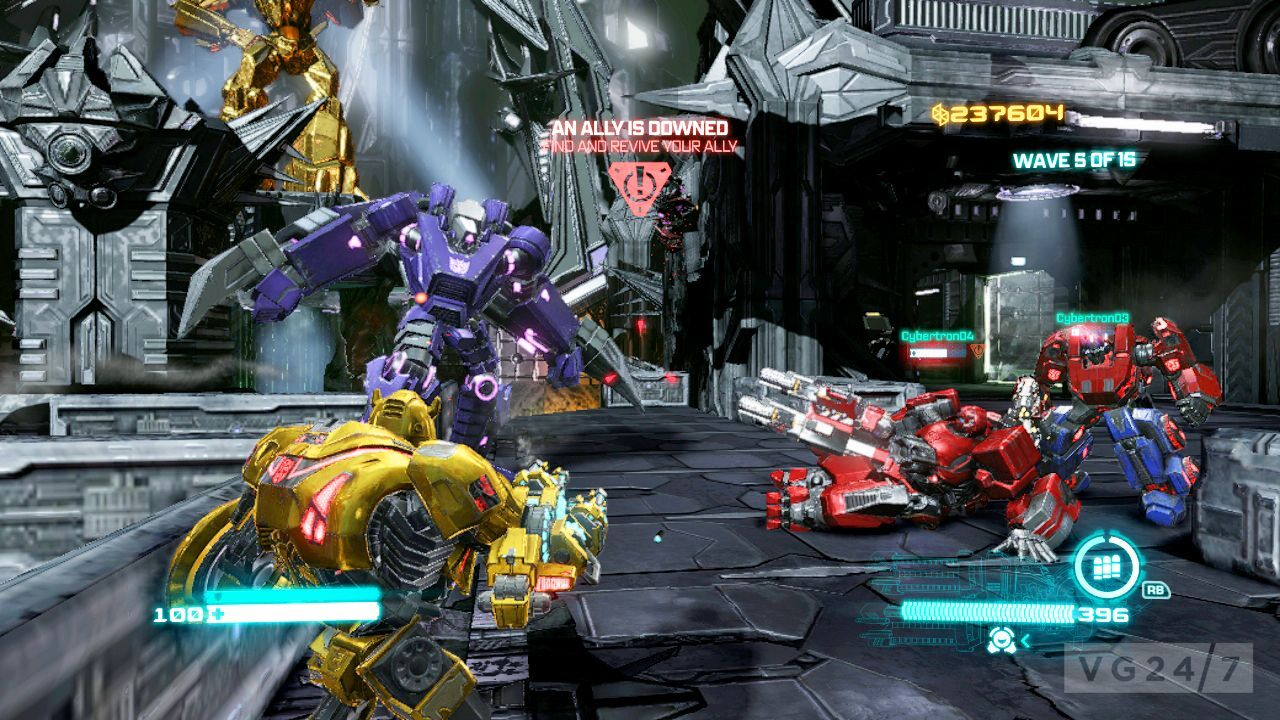 activision goes screenshot mental with transformers fall of