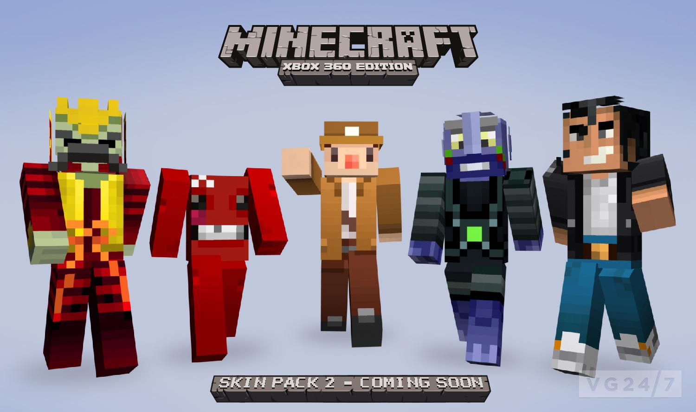 Minecraft Xbox 8 Skin Pack 8 due August 84 - VG847