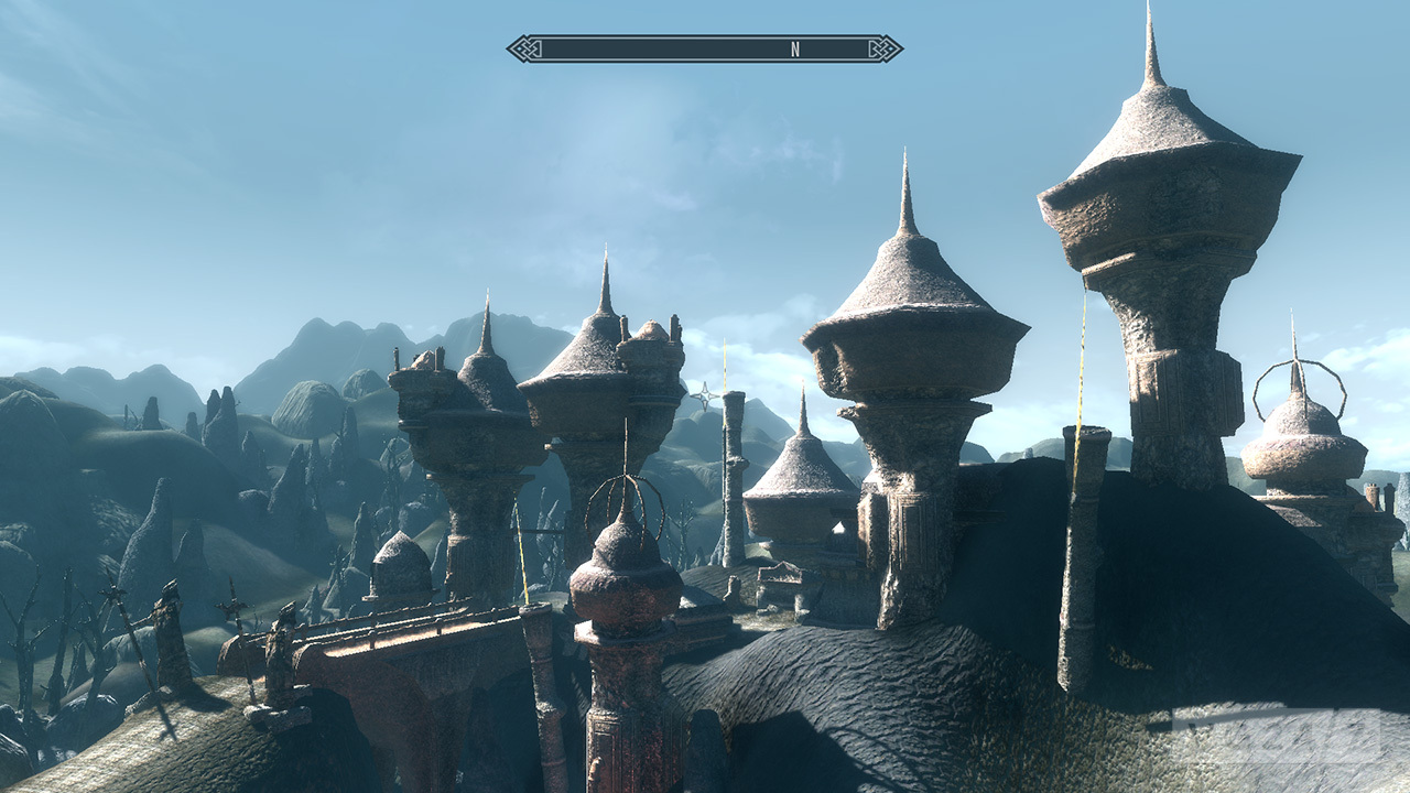 Skywind project is a Morrowind port using the Skyrim engine