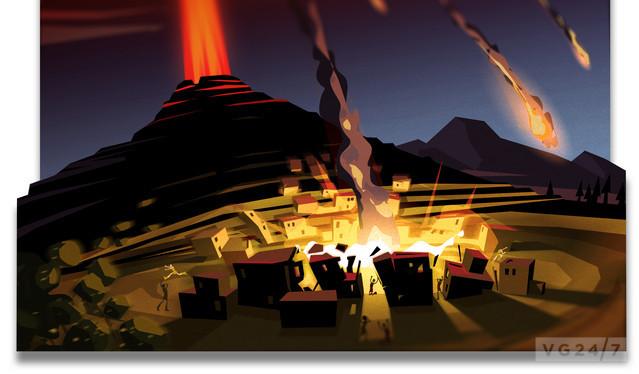Godus volcano