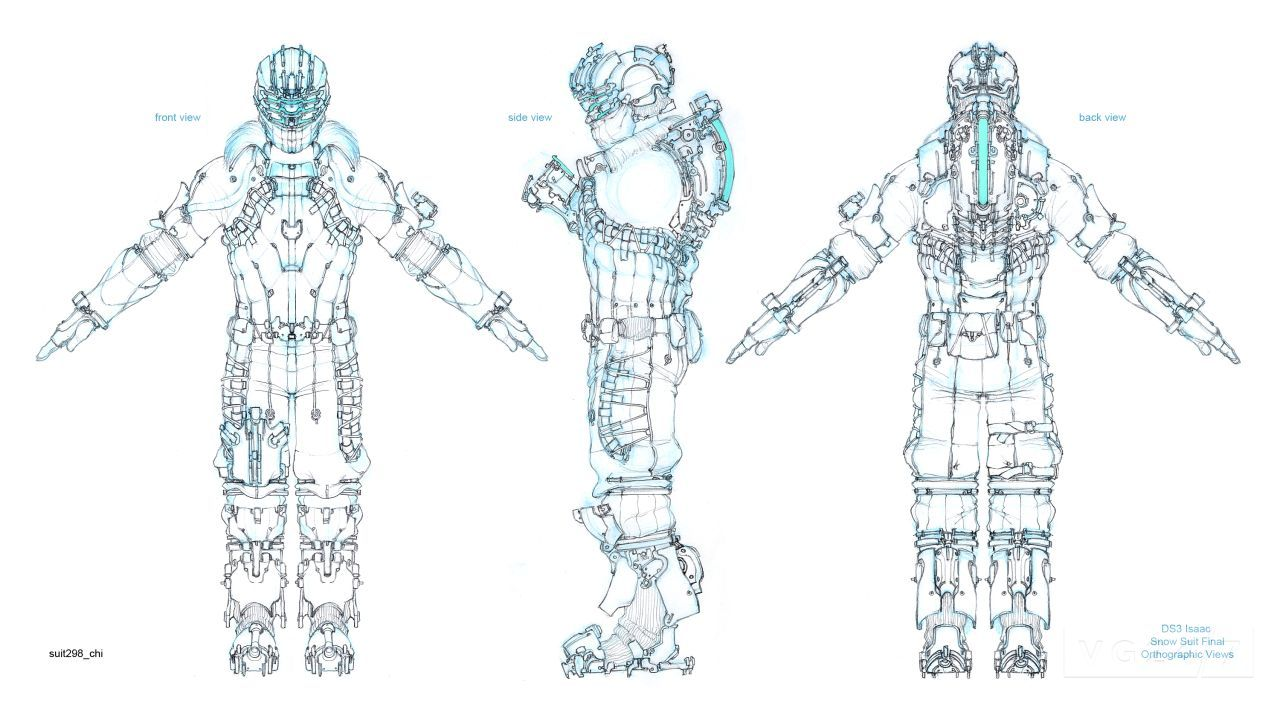 Dead Space 3 concept art is full of suits and weapons - VG247
