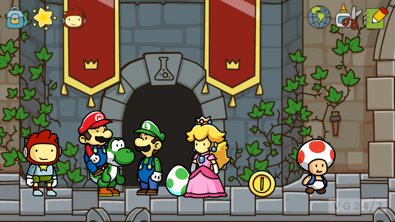 Scribblenauts Unlimited: Mario & Zelda shots reveal secret