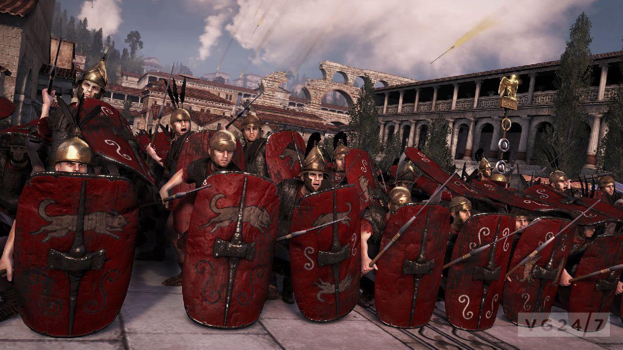 Římský útok ve městě
