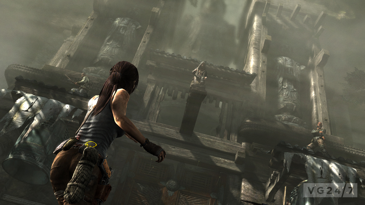 Tomb Raider Review Screens Show Action Combat Dirt Vg247