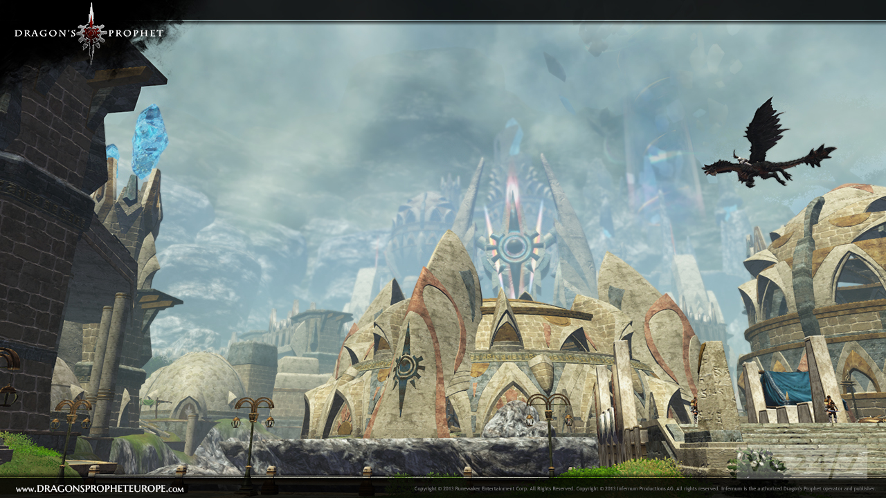 dragon s prophet screens show off the floating continent of laedis