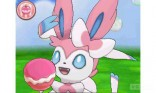 Pokemon-Amie Sylveon screenshot