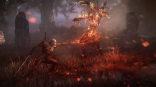 The_Witcher_3_Wild_Hunt_Geralt_uses_Igni_to_torch_leshen