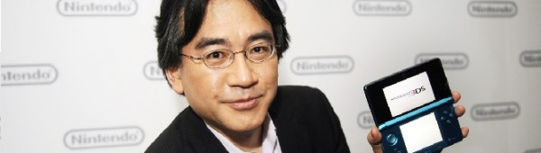 Satoru Iwata, President of Nintendo Co., Ltd., poses after Nintendo's E3 presentation of their new Nintendo 3DS at the E3 Media & Business Summit in Los Angeles