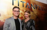 Chloe and Charlie Sims at Titanfall launch party 1
