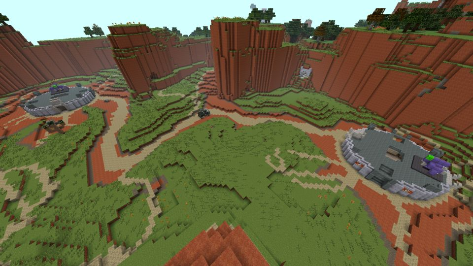 Halo Mash-Up Pack images for Minecraft 360 show Sandtrap, Valhalla