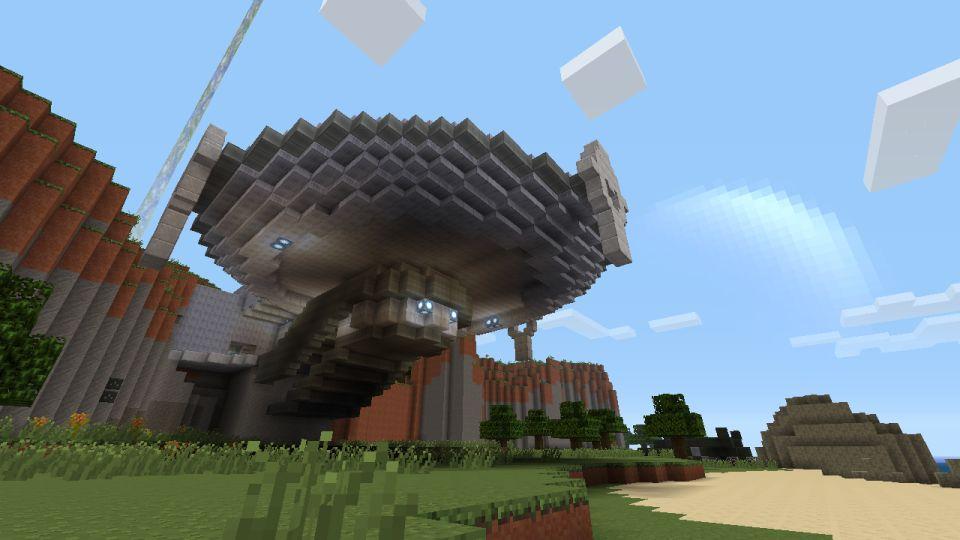 Halo Mash-Up Pack images for Minecraft 360 show Sandtrap