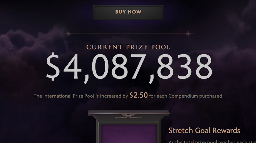 Over $4 million in Dota 2 global championship International tournament 2014