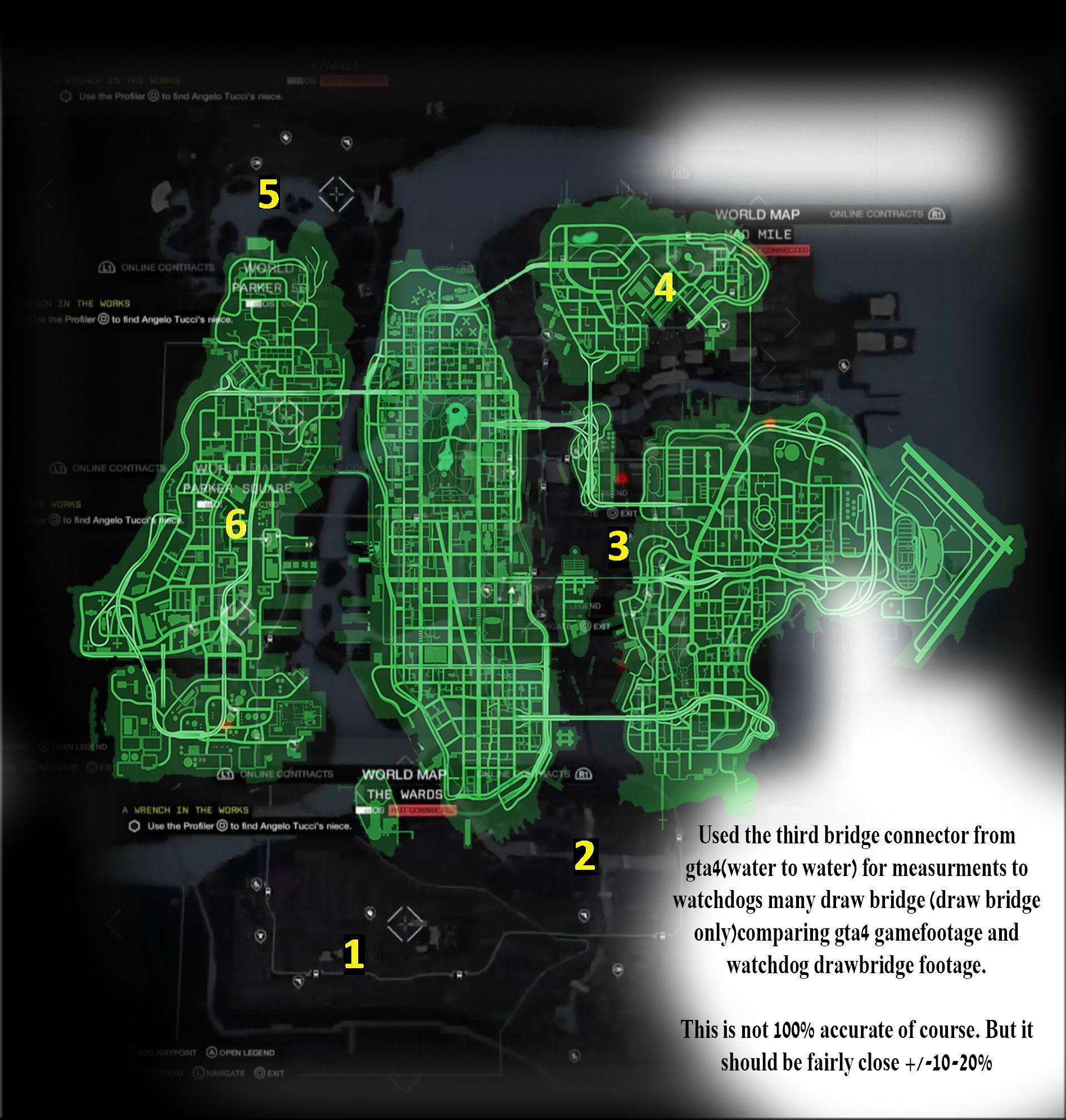 How Does The Watch Dogs World Map Compare To Gta 5 S Los Santos Vg247