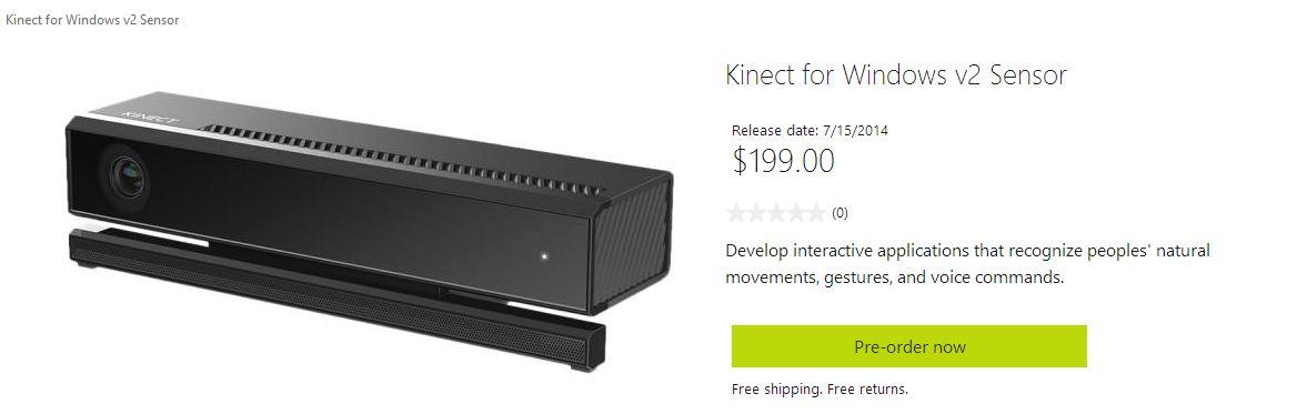 kinect v2 pc windows