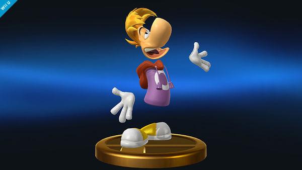 rayman Super Smash Bros trophy