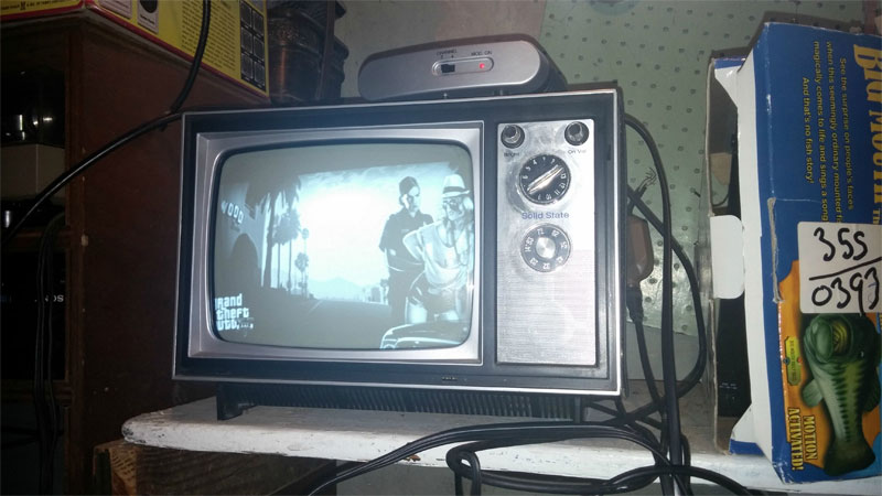What Gta 5 Looks Like On A 1973 Black And White Tv Vg247