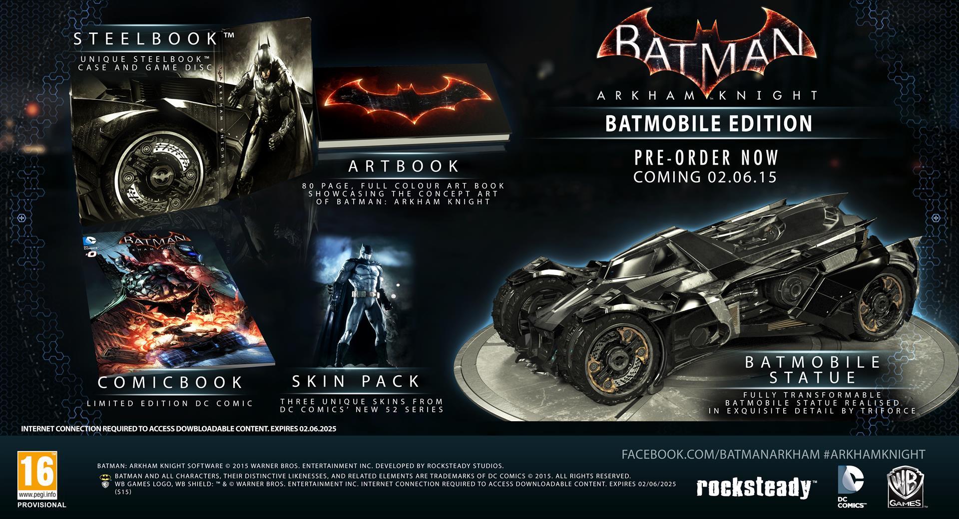 arkham knight batmobile ediition