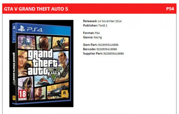 GTA 5 UK distributor date