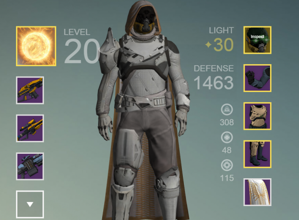 destiny level 30 gear