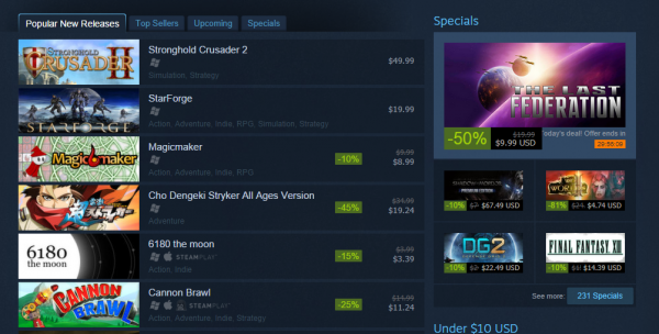 Steam Discovery update introduces multiple features and functionality