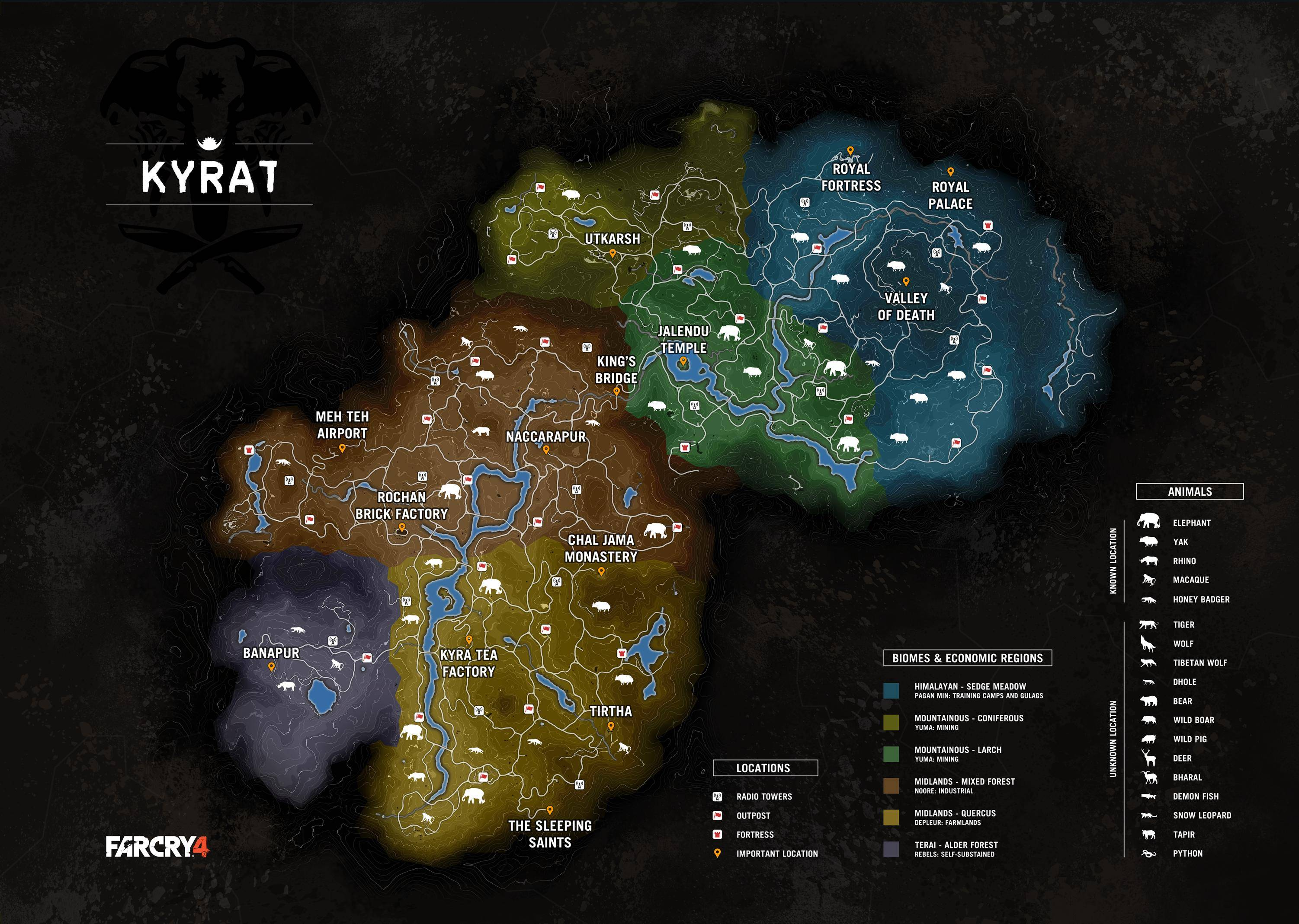 Take A Look At The Full Map Of Far Cry 4 Vg247