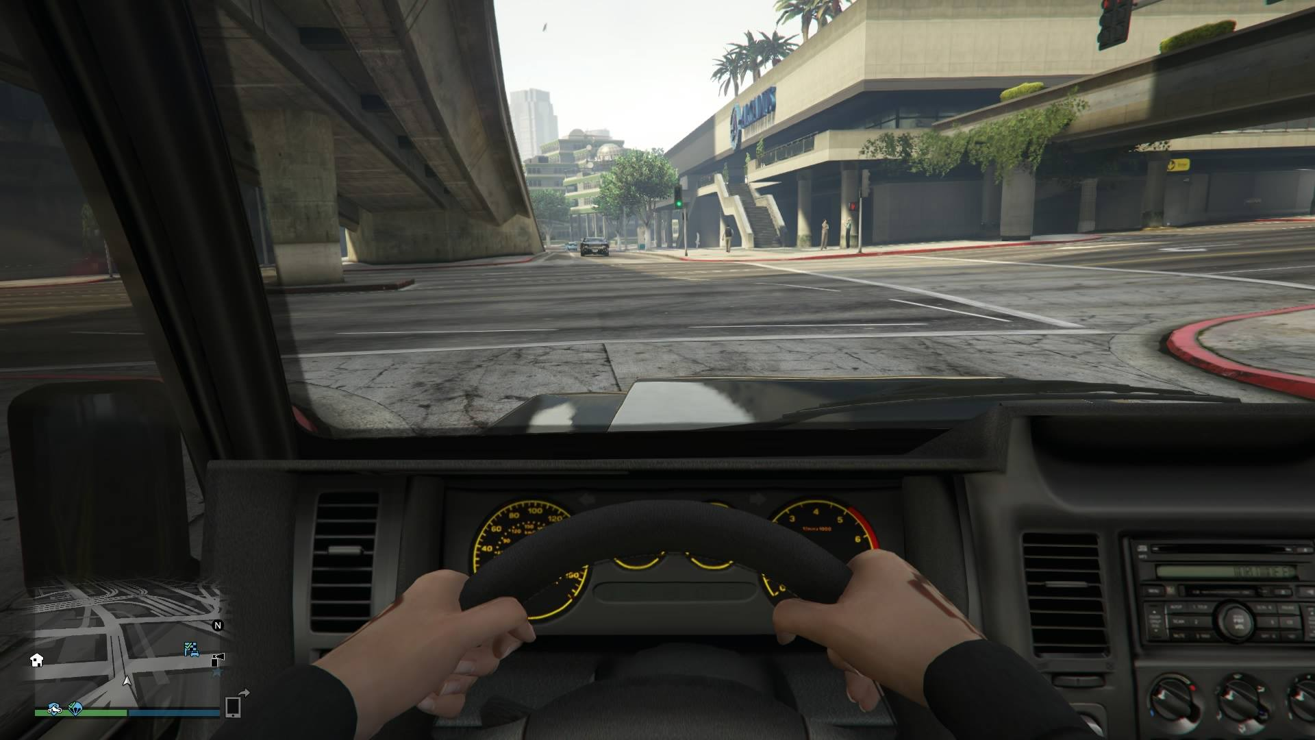 gta v first person driving