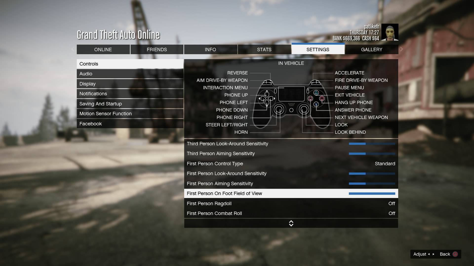 GTA 5 guide: how to configure first-person views on PS4 and