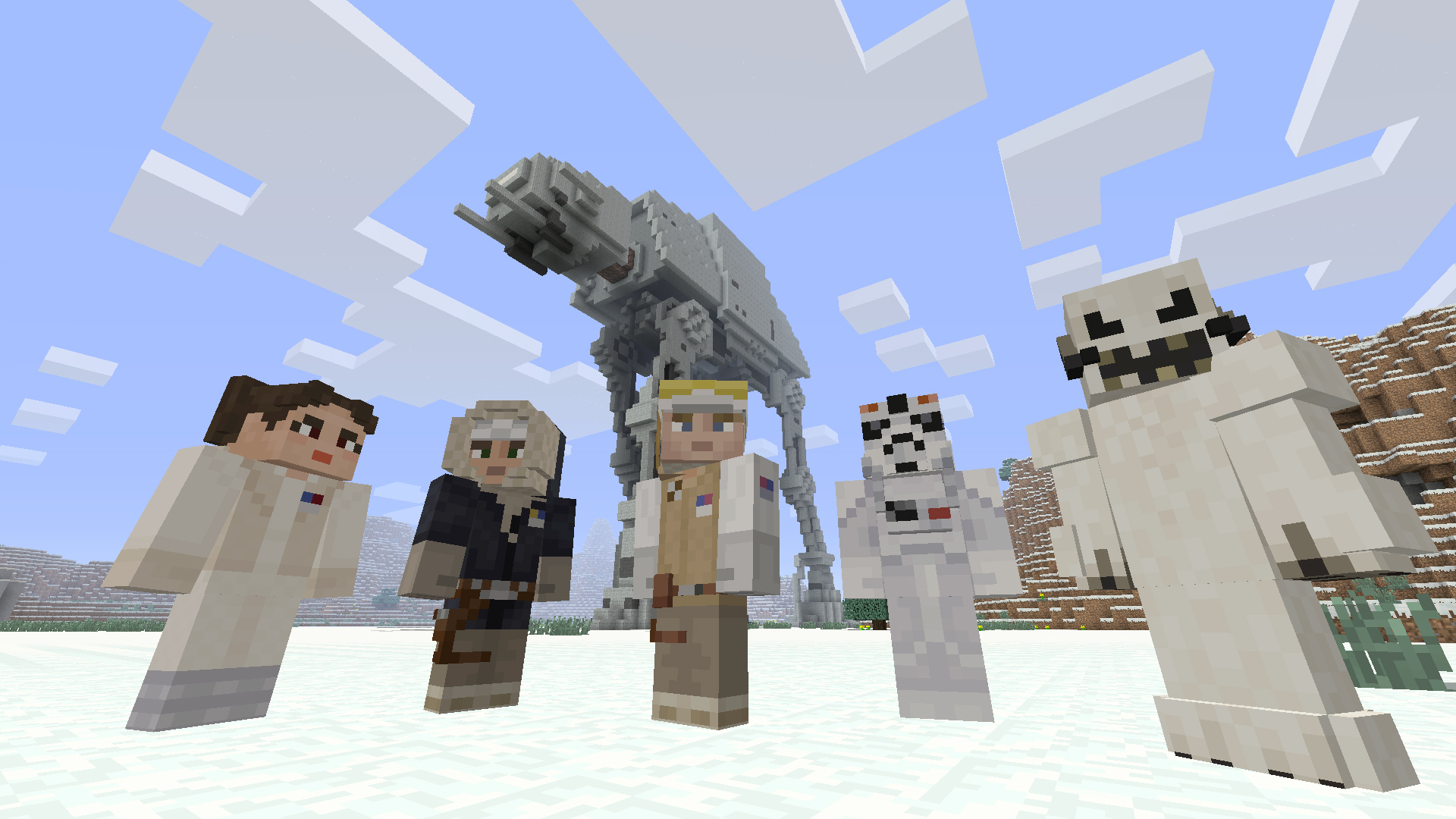 Minecraft Star Wars DLC Brings Favourite Character Skins To Xbox - Skin para minecraft 1 11 2
