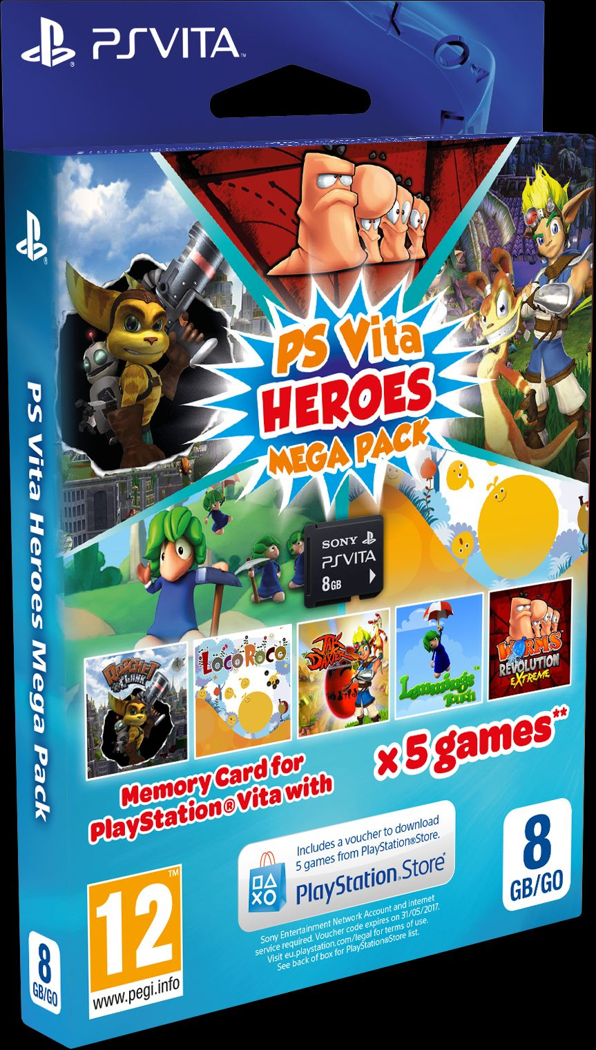 PS Vita Heroes Mega Pack arrives in European stores next
