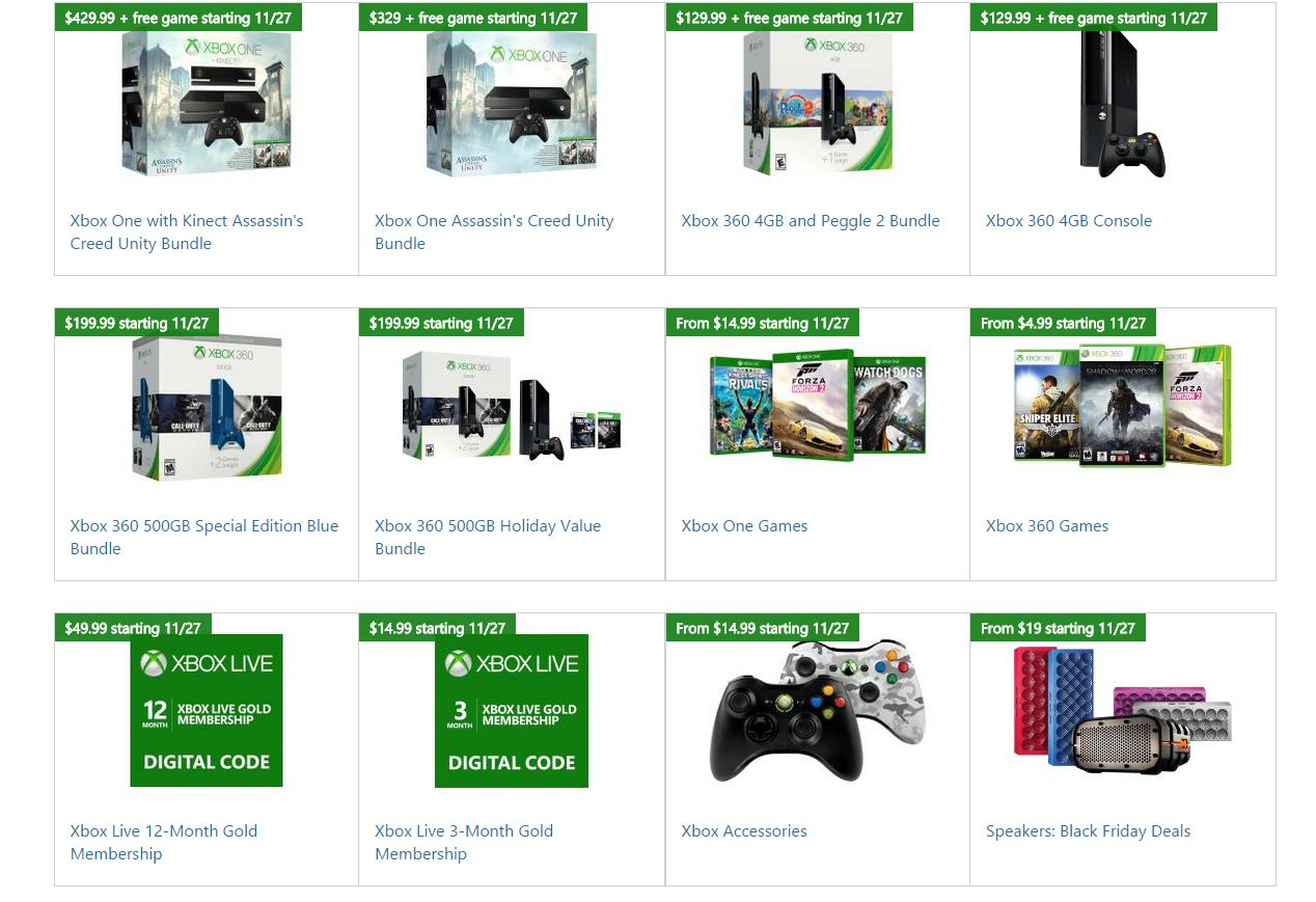 Black Friday Deals From Microsoft Store Include Xbox Bundles And Game Discounts Vg247