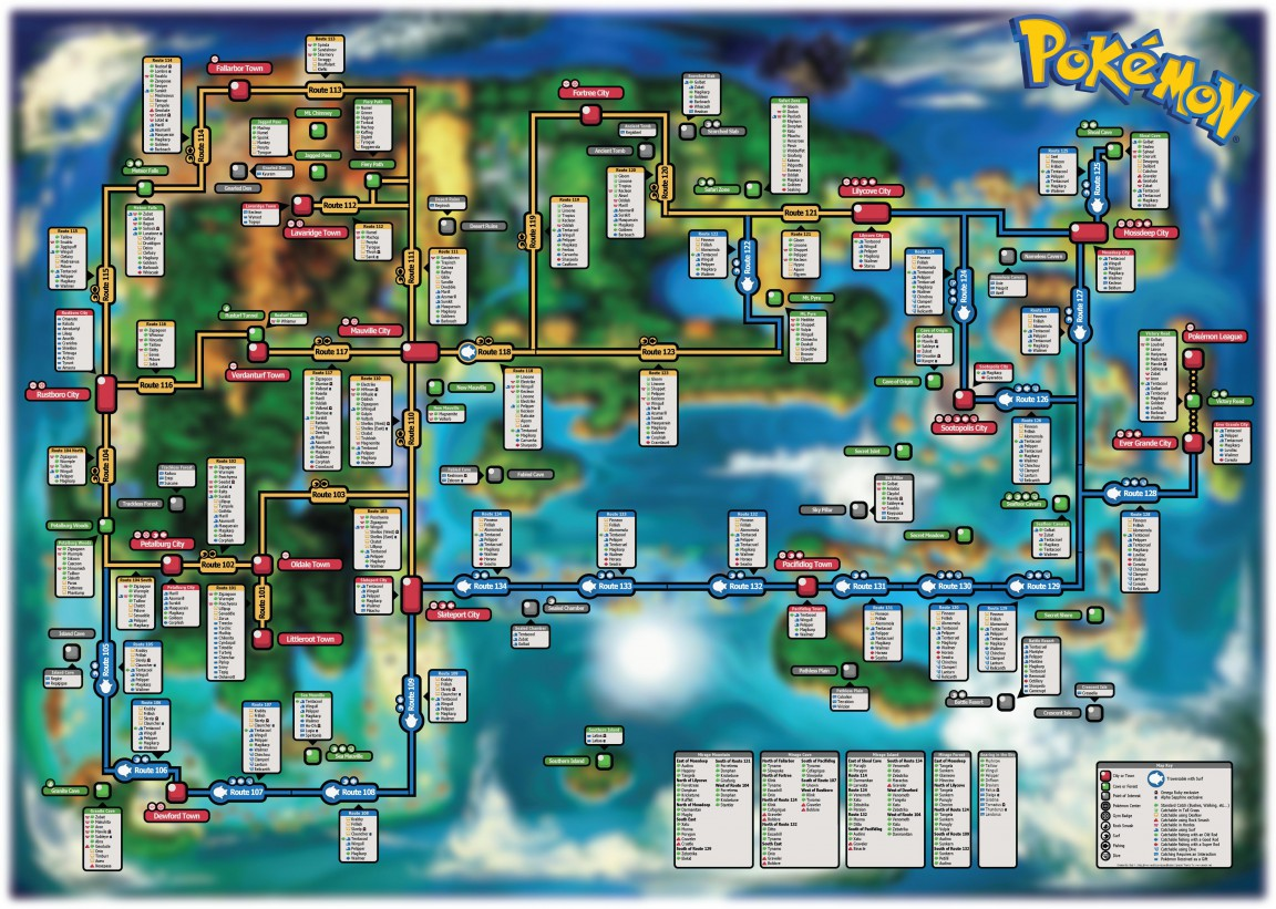 pokemon or & as catchable poki map