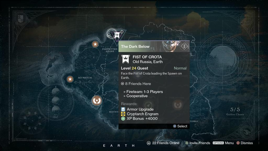the dark below fist of crota