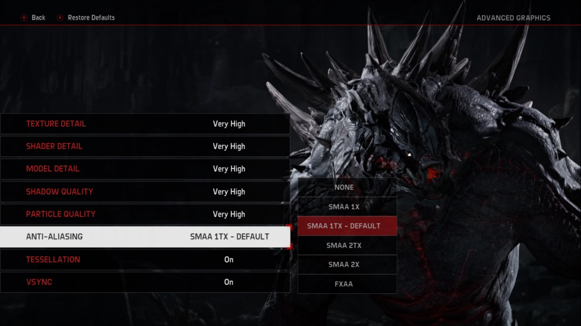 evolve pc settings menu