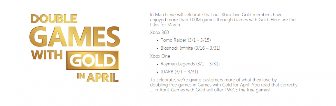 games with gold march