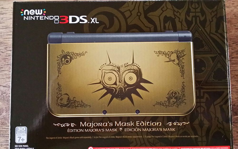my limited edition majora s mask new 3ds xl has arrived and i m so