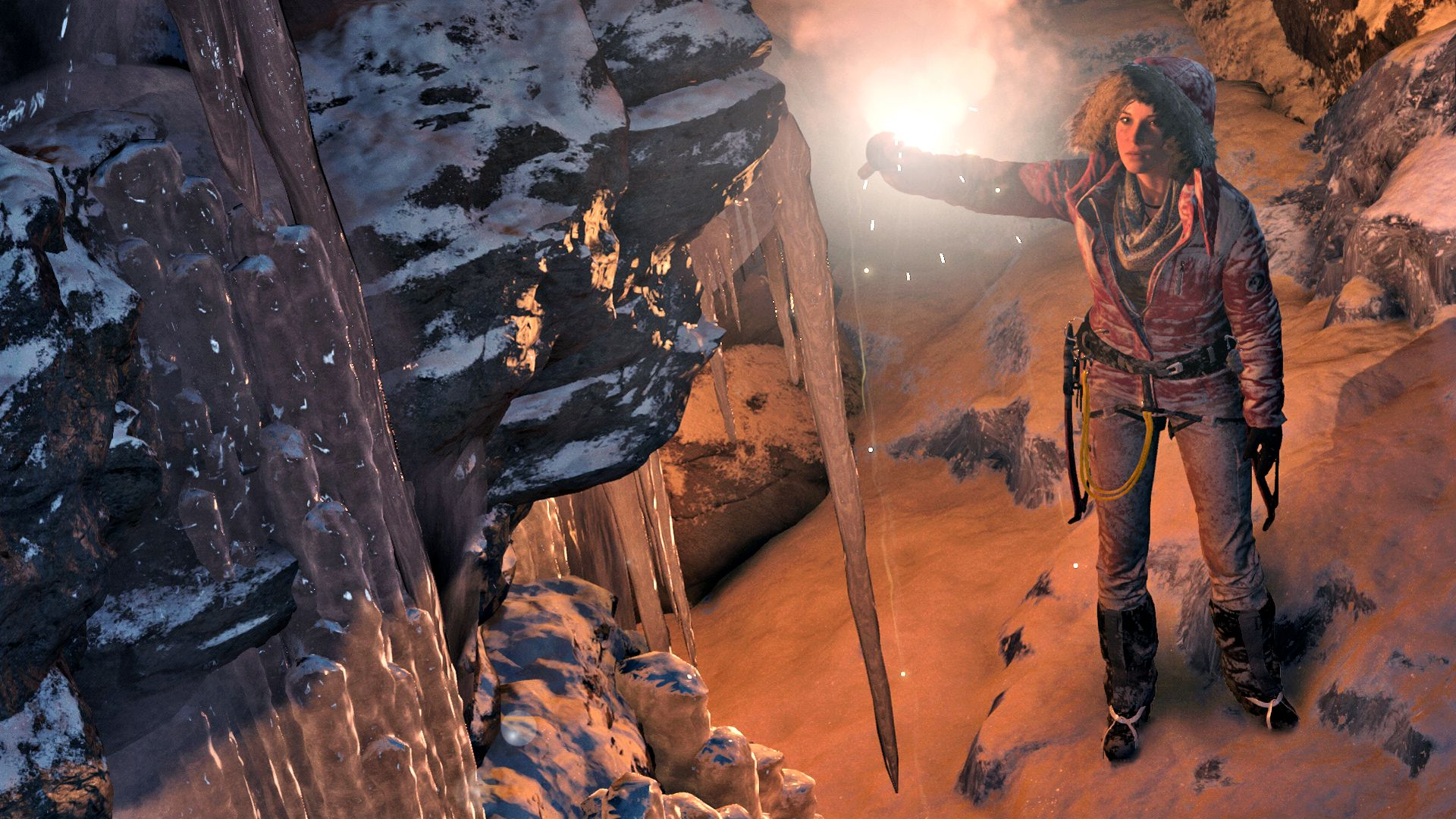 Lara appears cold and doleful in these new Rise of the Tomb