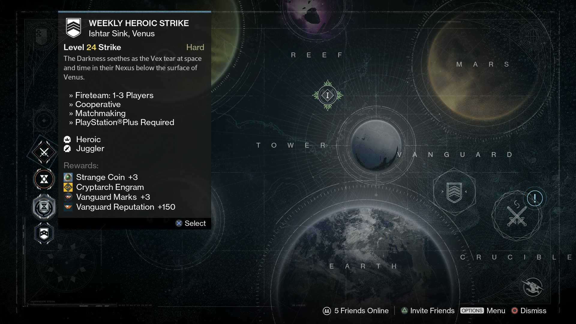 Is there matchmaking for nightfall strike