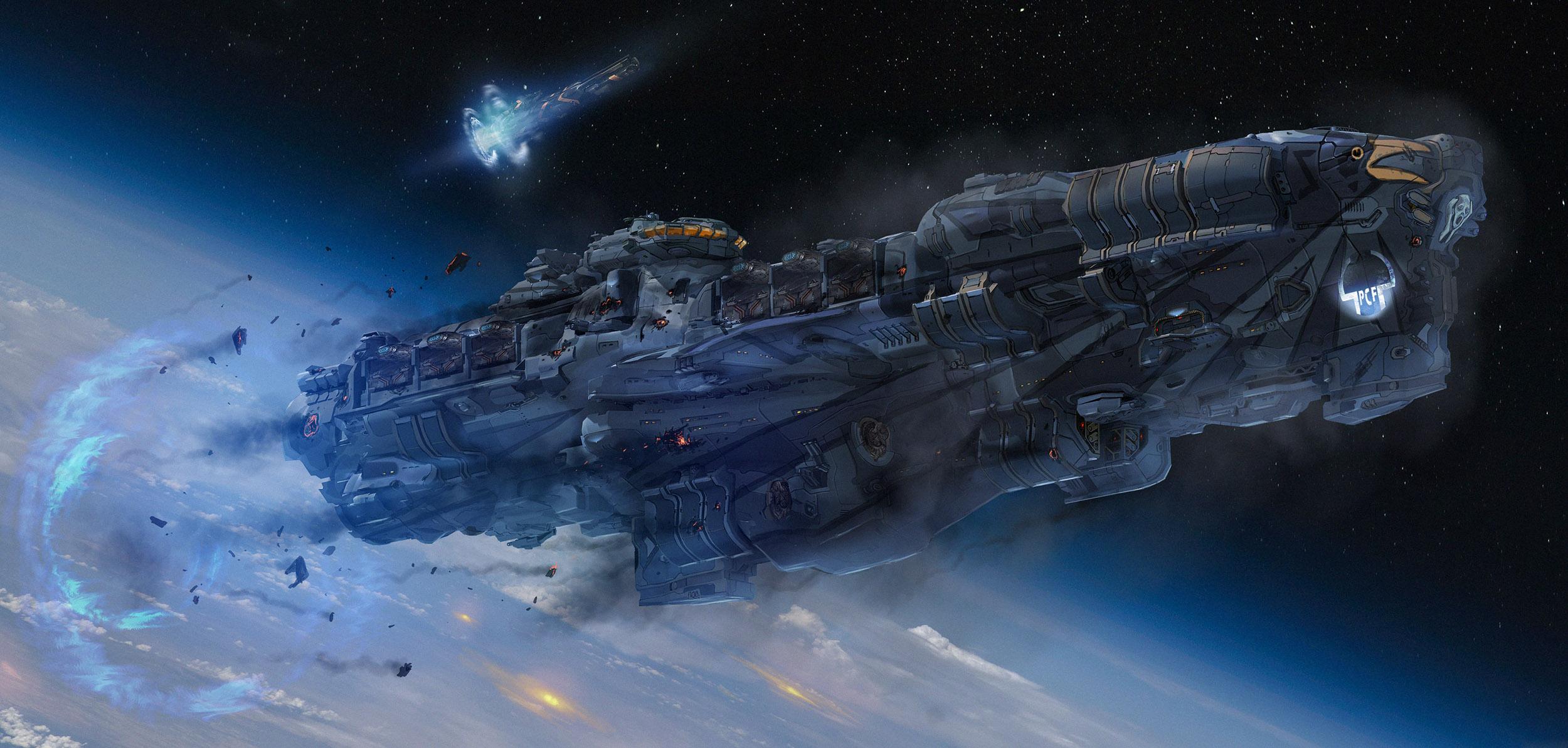 高級感のある宇宙船画像
