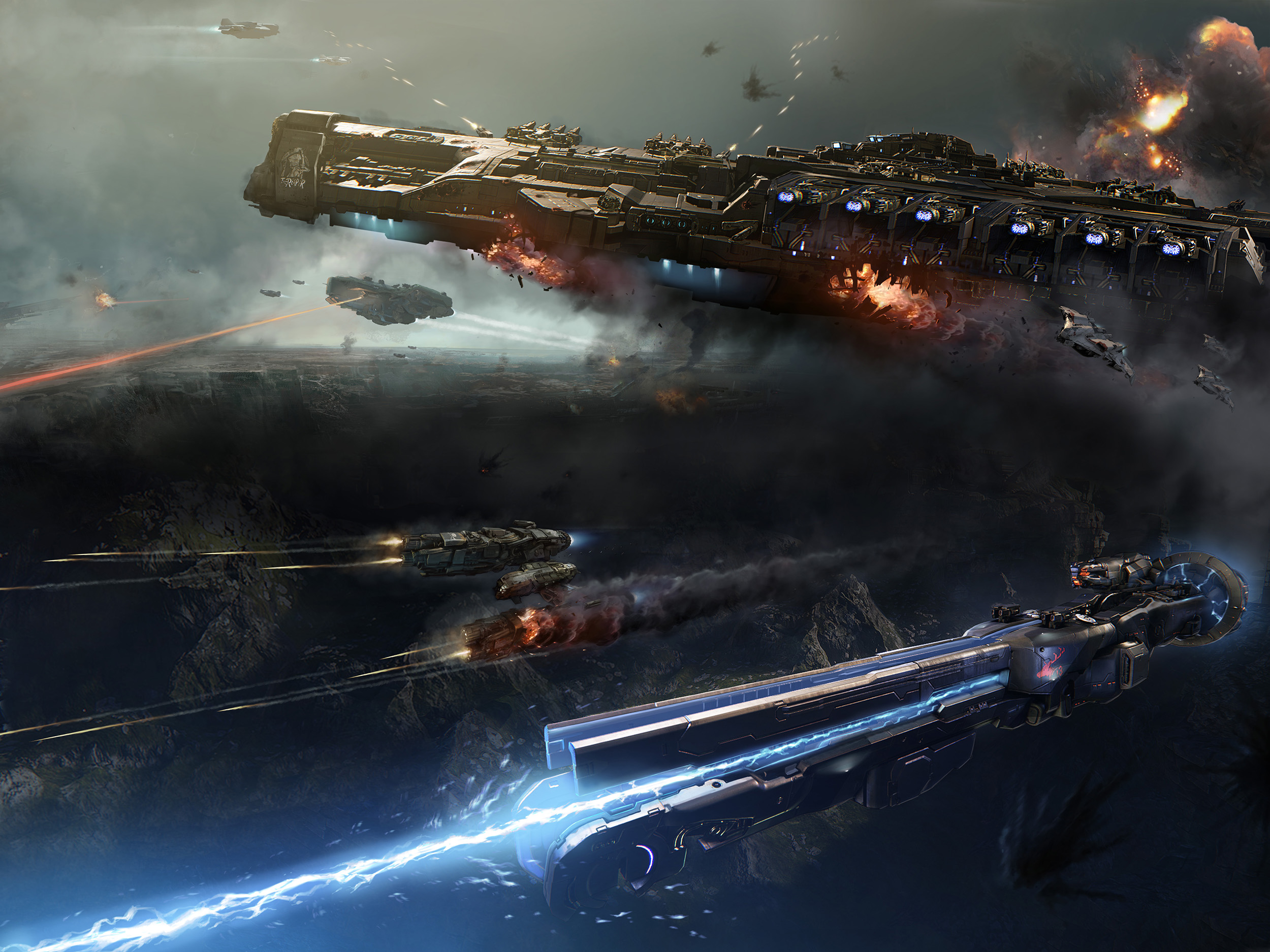 戦う宇宙船画像