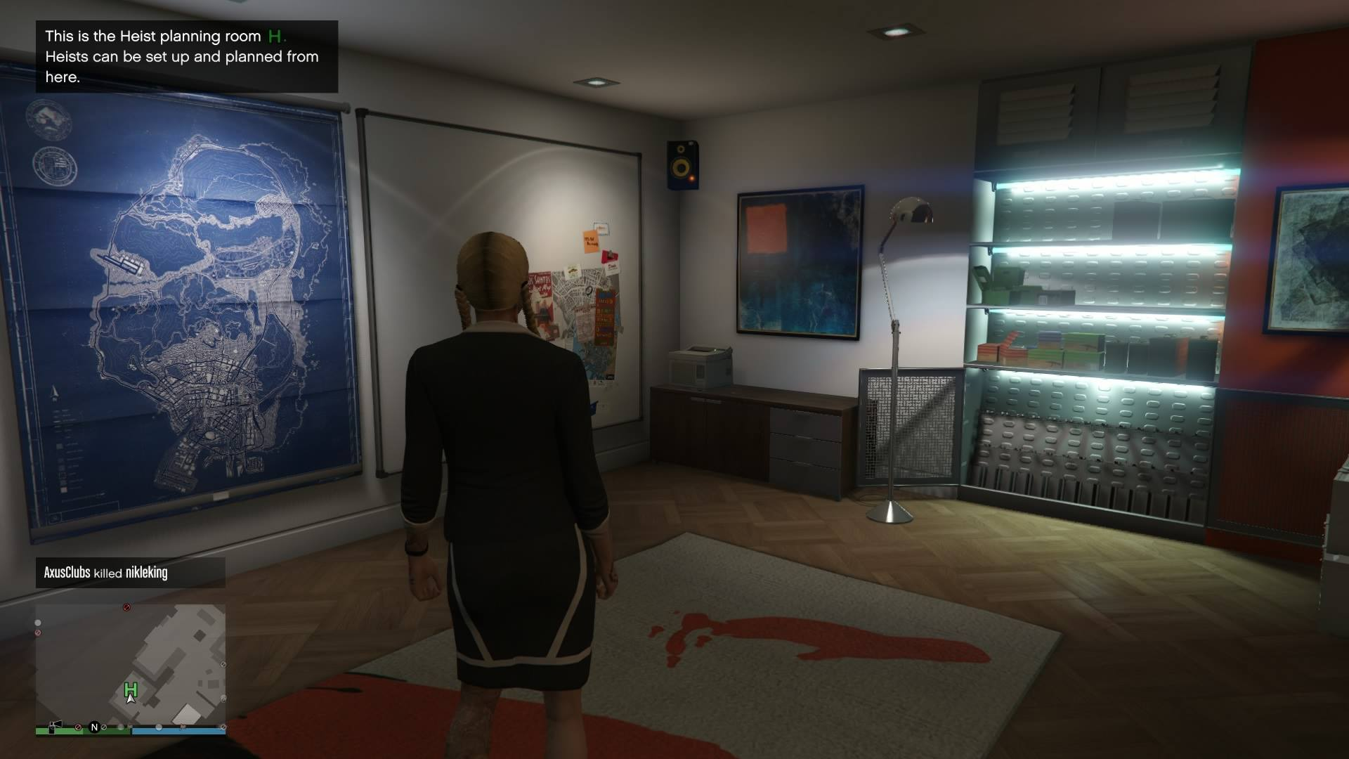 Go Back To Your Apartment And You Ll Walk Into New Heist Planning Room Re Now Able Host Lead Own Heists