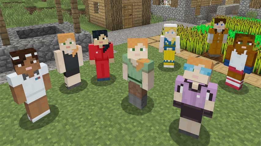 Minecraft console builds get free female avatar skin - VG247
