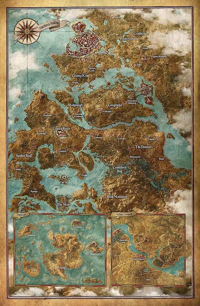 The world map for The Witcher 3: Wild Hunt is a rather large one